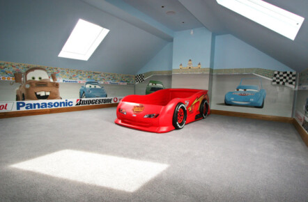 Hand Painted 'Cars' Mural