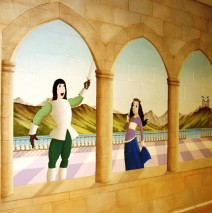 Hand Painted Princess Mural