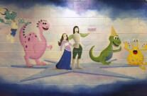 Hand Painted Princess Mural