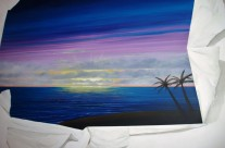 Trompe L'oeil Sunset Mural
