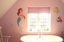 Hand Painted Mermaid Mural