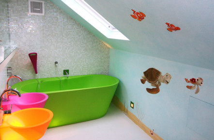 hand painted bathroom murals imaginative interiors