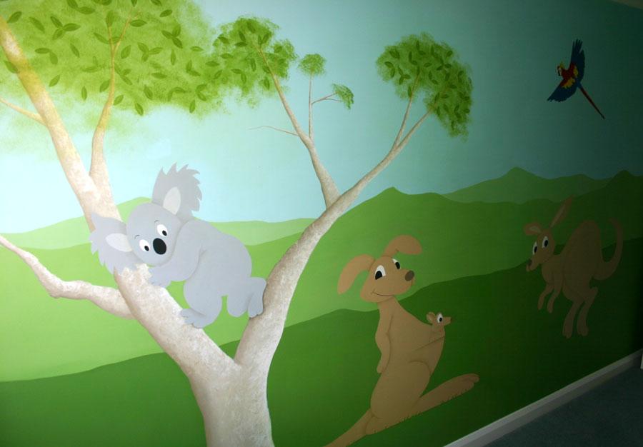 Australian themed nursery mural york yorkshire for Australian mural