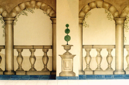 Painted Stone Effect Pillars