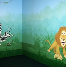 Hand Painted Jungle Mural