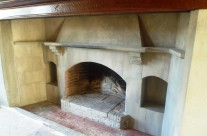 Faux Stone Paint Effect Fireplace