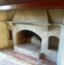 Faux Stone Paint Effect Fireplace