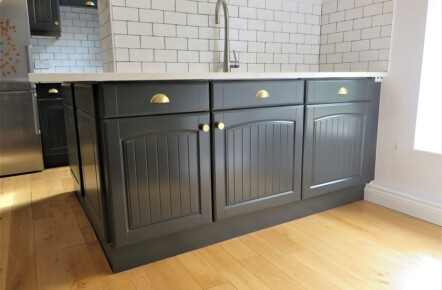 Dark Grey Painted Kitchen Units Yorkshire Imaginative Interiors - Dark grey kitchen units
