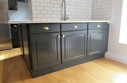 Dark Grey Painted Kitchen Units