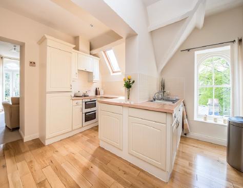 The original 'off white' kitchen