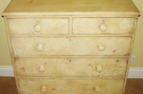 Distressed Bedroom Furniture with Hand Painted Flowers