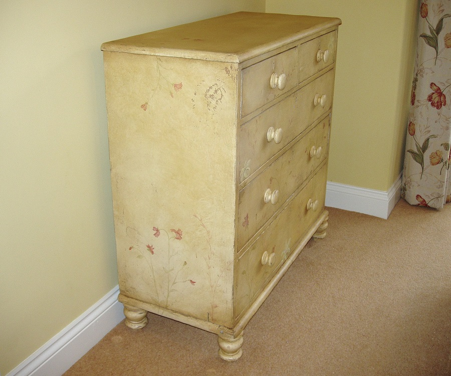 project details distressed bedroom furniture with hand painted