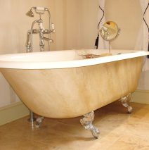 Faux Marble Paint Effect Bath