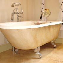 Faux Marble Paint Effect Bath