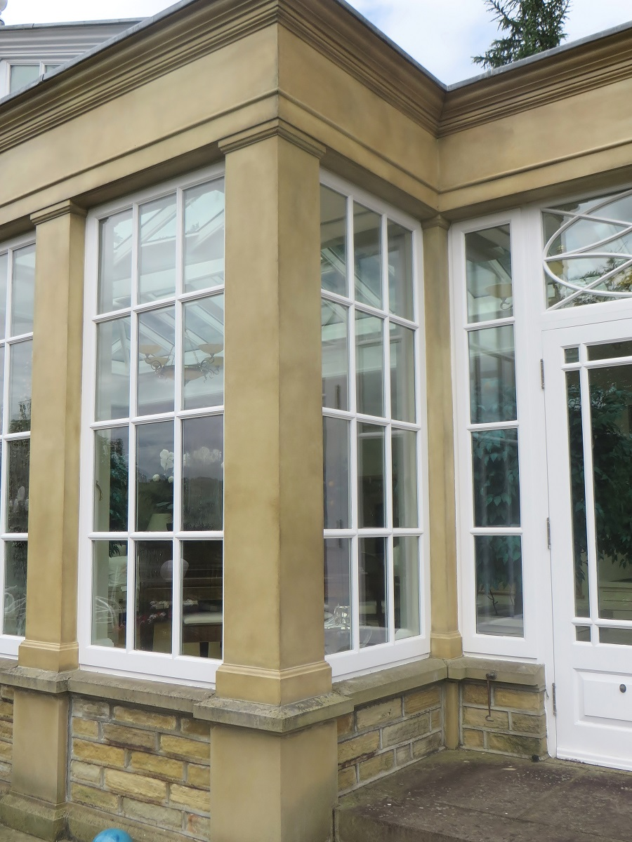 Exterior Faux Stone Columns : Faux stone finish on an exterior in w yorkshire