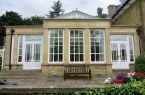 Painted Stone Effect on Conservatory