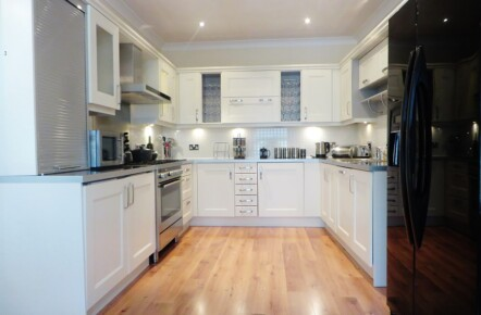 Hand Painted Beech Laminate Kitchen