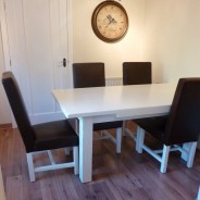 Hand Painted Oak Kitchen Table and Chairs, Pontefract – Blog by Lee Simone
