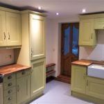 The finishes hand painted kitchen in Rotherham, South Yorkshire