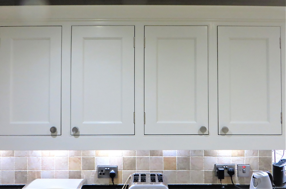 The finished doors have a silky smooth, brush mark free finish