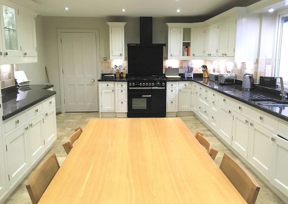 The finished painted kitchen, lighter, brighter and much more contemporary