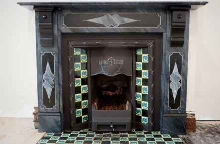 Painted Marble Effect Fireplace