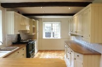 Hand Painted Knotty Pine Kitchen