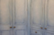 Hand Painted Wardrobes with Specialist Paint Effect