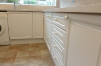 Hand Painted Oak Kitchen
