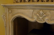 Hand Painted 'Shabby Chic' Fireplace