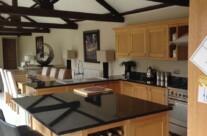 Hand Painted Oak Kitchen