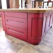 Hand Painted Kitchen Island with Paint Effect – Blog