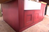 Kitchen Island with Paint Effect