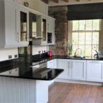The completed hand painted laminate kitchen in Barkisland, Halifax