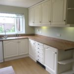 The finished painted kitchen in Batley