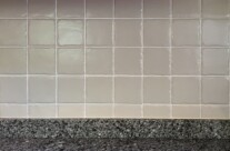 Kitchen Repaint with Painted Tiles