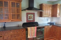 Hand Painted Reclaimed Pine Kitchen