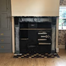 Marble Faux Finish on Slate Fire Surround