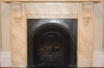 Painted Marble Effect Fireplaces