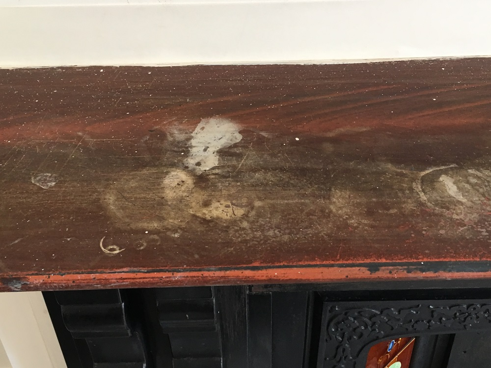 Old replacement wooden mantel piece