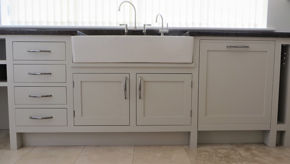 Close up of the sink area and the silky smooth hand painted finish