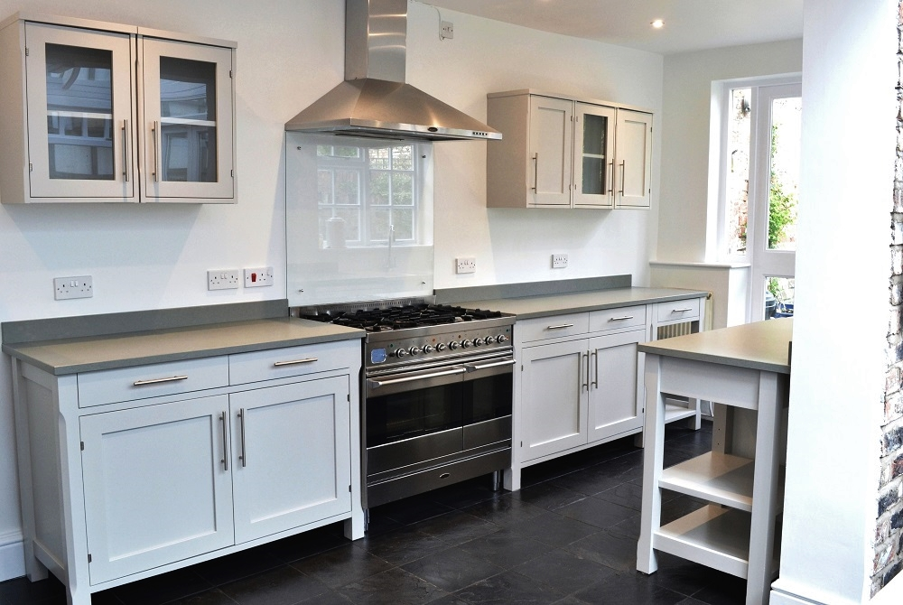 Hand painted kitchen - light, bright and modern!