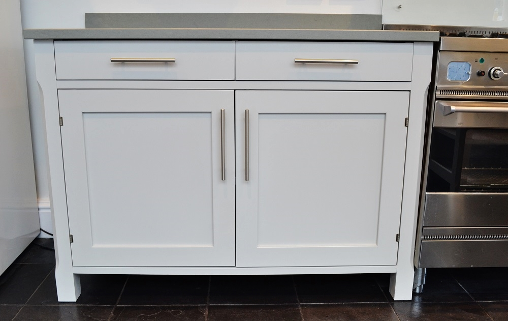 Hand painted kitchen with smooth, highly durable finish, quite the transformation!