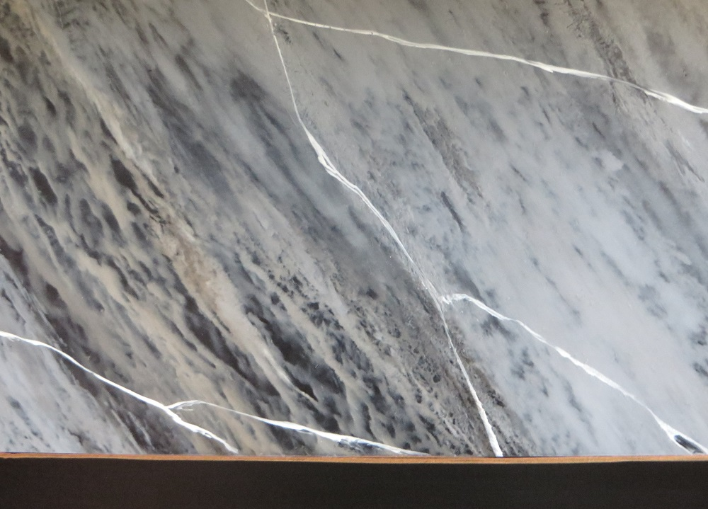 Ultra close up of the painted marble effect