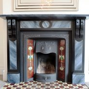 Imitation Painted Marble Fireplace