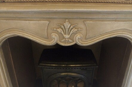 Painted 'Shabby Chic' Fireplace
