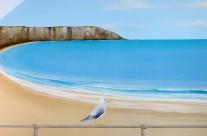 Hand Painted Beach Murals