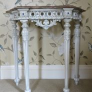 Hand Painted Console Table with 'Shabby Chic' Paint Effect