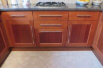 Hand Painted Cherry Laminate Kitchen
