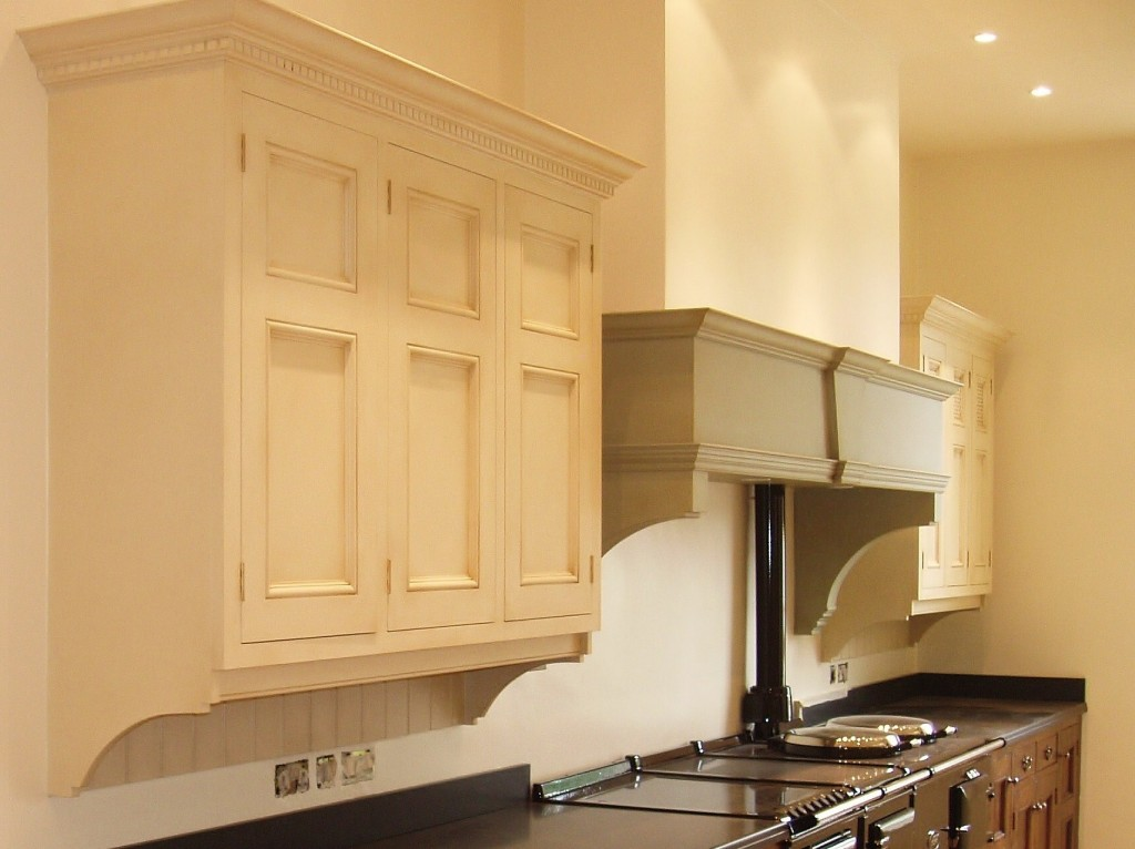 Hand painted kitchen with 'antique' finish
